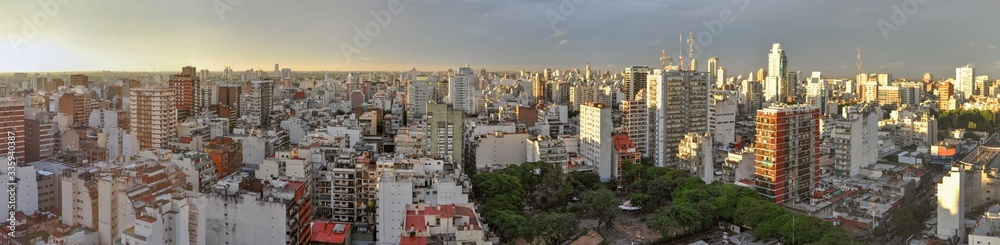 Evening view of Buenos Aires, capital of Argentina