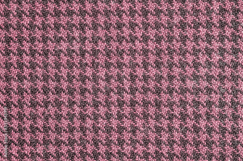 Seamless traditional generic houndstooth fabric pattern background texture in red and black shot straight on Canvas Print