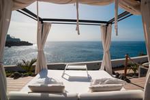 Sunbathing Bed In A Luxury Poo...