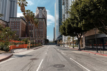Empty Streets In Downtown Los ...