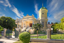 Merida, Mexico - 11 February, 2020: Central Avenue Paseo De Montejo In Merida With Local Museums, Restaurants, Monuments And Tourist Attractions