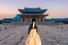 Gyeongbok Palace In Seoul City...