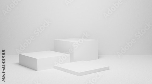 3d render of square stage or podium stand