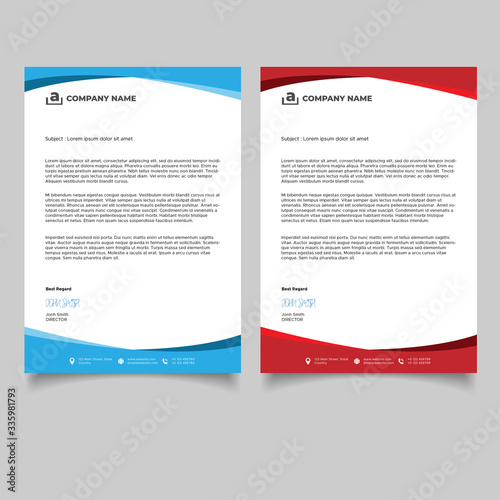 Fototapeta Minimal business letterhead templates design obraz