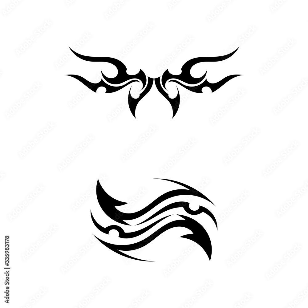 Fototapeta tribal ethnic tattoo icon vector illustration design logo