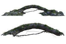 Pair Of Arched Logs Isolated O...