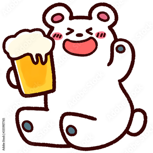 Fototapeta シロクマとビール