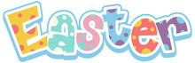 Happy Easter Font Design With ...