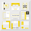 Social Media Post Set Template Design. Social Media banner Template. Anyone can use This Easily. Promotional square web banner for social media. Elegant sale and discount promo. Vector