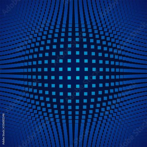 Three dimensional deformed background of blue color vector illustration Canvas-taulu
