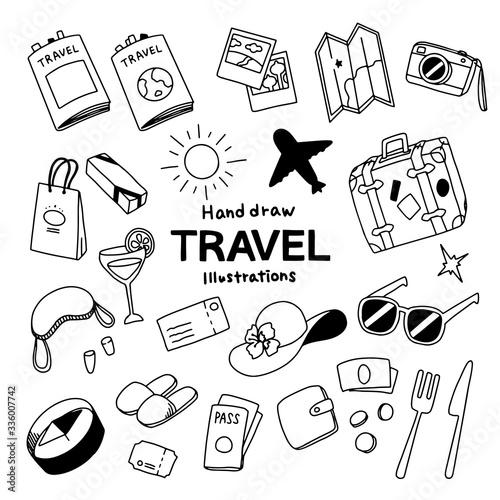 Travel Illustrations Pack Fototapete