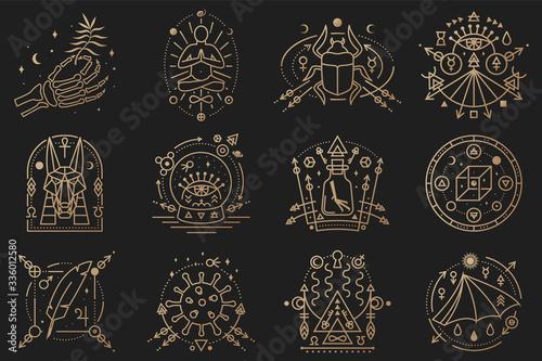 Esoteric symbols Canvas Print