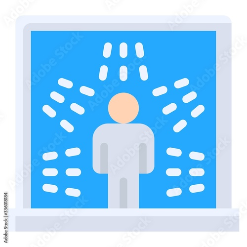 Photo Disinfection chamber vector illustration, flat style icon