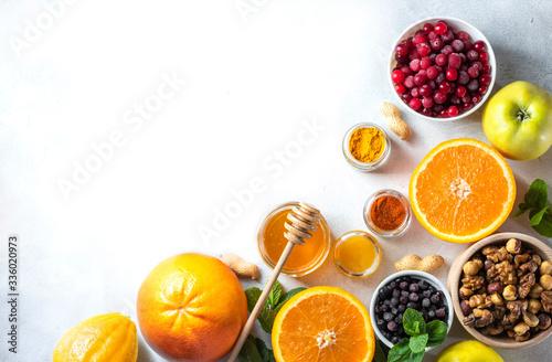 Healthy products for Immunity boosting Fototapeta