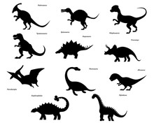 Set Of Dinosaur Silhouettes Is...