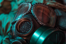 Closeup Shot Of An M40 Style Military Issue Gasmask