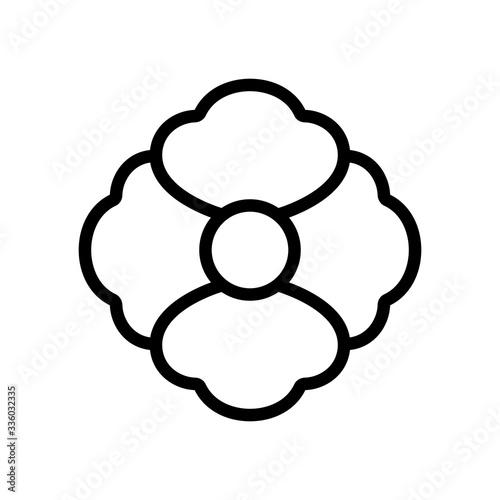 poppy plant icon vector. poppy plant sign. isolated contour symbol illustration - 336032335