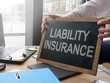 canvas print picture - Business photo shows printed text liability insurance