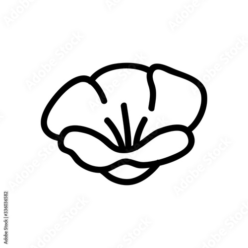 the poppy plant flower icon vector. the poppy plant flower sign. isolated contour symbol illustration - 336036582