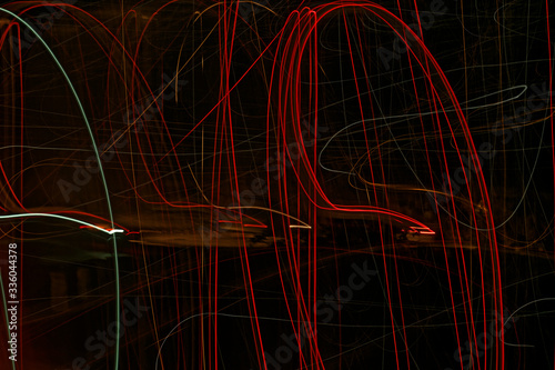 Red and black background with neon effect Canvas Print