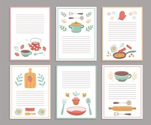 Recipe Cards. Culinary Book Bl...