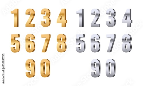 Cuadros en Lienzo 3d numbers