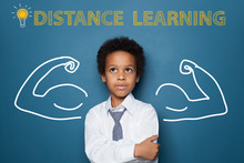 Distance Learning Concept With...