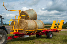 Straw On A Big Trailer From A ...