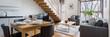 Stylish two-floor apartment, panorama