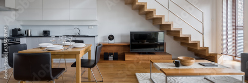 Obraz Two-floor apartment, panorama - fototapety do salonu