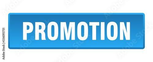 Obraz promotion button. promotion square blue push button - fototapety do salonu