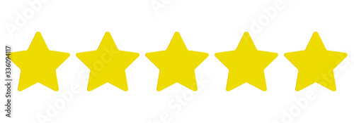 Obraz Rating stars. Five stars customer product rating review. Ranking symbol. Vector illustration. EPS 10 - fototapety do salonu