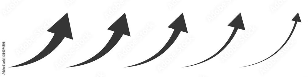 Fototapeta Vector up arrows. Set of rising arrows