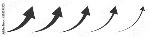 Vector up arrows. Set of rising arrows