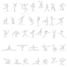 Vector, Isolated, Drawing, One...