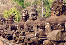 Army Of Khmers In Statues Line...