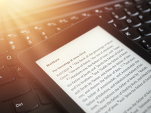 Close Up Of Ebook Reader With ...