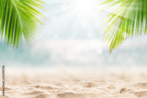 Landscape of tropical summer. Summer vacation concept.