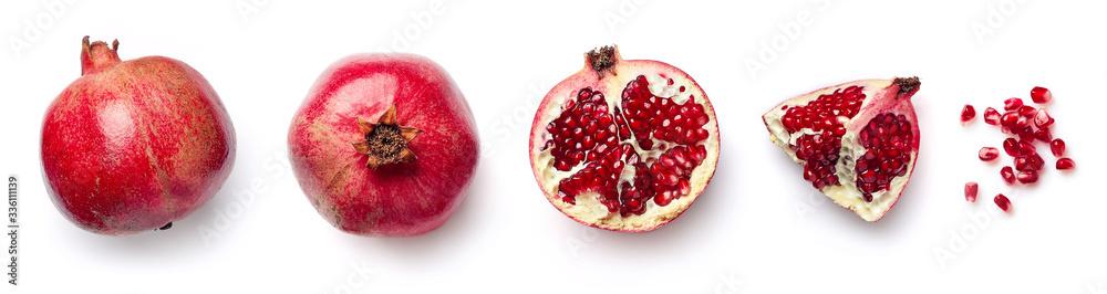 Fototapeta Fresh pomegranate isolated on white background