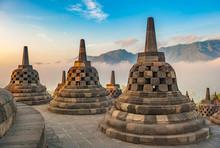 Borobudur Temple At Sunrise, J...