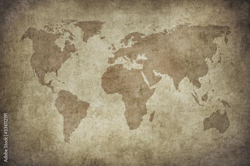 Obrazy mapa  grunge-map-of-the-world