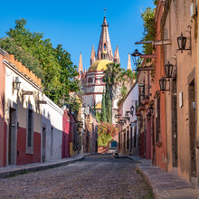 Colorful Street Of San Miguel ...