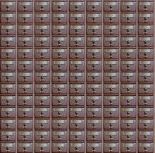 Pattern Of An Old Fashioned Wood Post Office Box