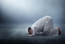 Religious Asian Muslim Man Pra...
