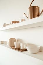 Kitchenware Utensils On Shelf ...