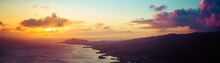 A Panorama Of A Sunset Over Th...