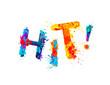 Hit. Inscription of splash paint letters