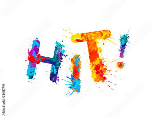 Fototapety, obrazy: Hit. Inscription of splash paint letters