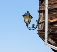 Old Classic Lamp With Wrought ...