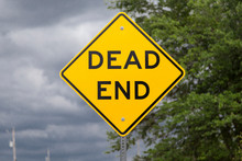 Yellow DEAD END Road Sign (USA...